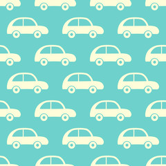 Vector seamless pattern with cars
