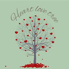 Round tree heart
