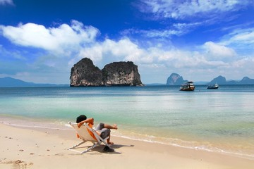 the paradise island in trang province , thailand