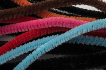 Closeup of Colour Pipe Cleaners