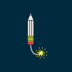 Pensil icon. Vector pictogram save for esp10
