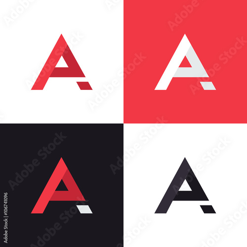 a letter logo design template in different colors graphic alphabet