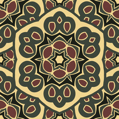 Seamless ornament boho-chic