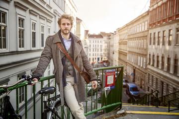 Young man in Vienna, Austria