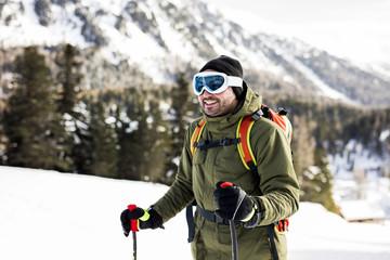 Austria, Turracher Hoehe, portrait of smiling skier