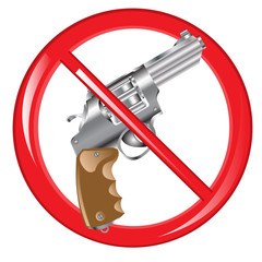 Sign prohibiting weapon