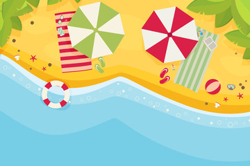 Beach flat design background