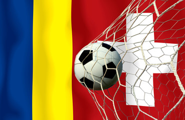 Soccer Euro 2016 ( Football )  Romanian  and Switzerland