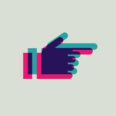 icon arrow hand