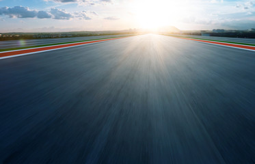 Wall Mural - Motion blurred racetrack,morning