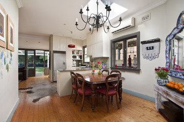 bright beautiful dining room