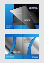 Red brochure bi fold template