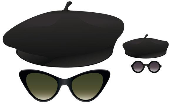 Beret sunglasses