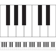 Piano keys vector illustration.