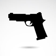 Gun vector icon.