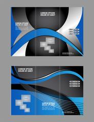 Vector empty trifold brochure template design