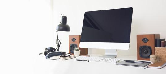Mockup image of a desktop computer