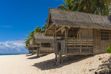 Bamboo beach houses in Philippines
