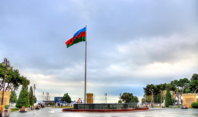 Flag of Azerbaijan in Baku