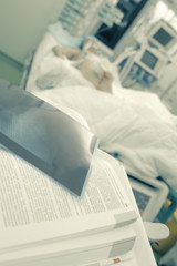 Book reading at the patient bedside