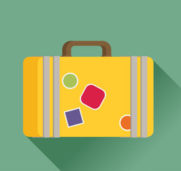 Luggage symbol. Vector illustration of flat color icon