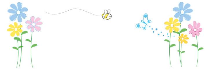 Biene Schmetterling Blumenwiese