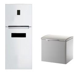 Modern steel refrigerator