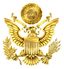 Gold Great Seal of the United States