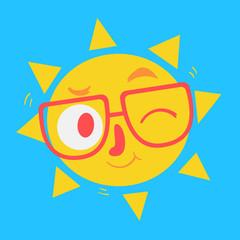 Cute Geek Sun Winking