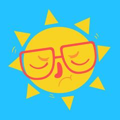 Cute Geek Sun Disappointed