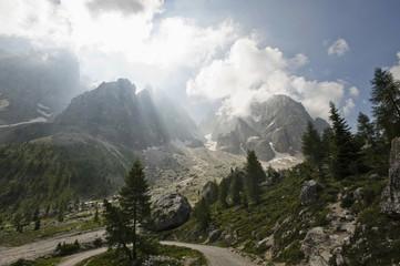 Italy, Venetia, Val Venegia and Pale di San Martino