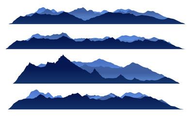 Blue sky mountain view set vector design Wall mural