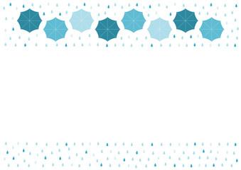 雨と傘 イラスト フレーム