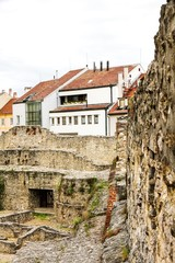 Archeological site in Sopron, Hungary, Europe..