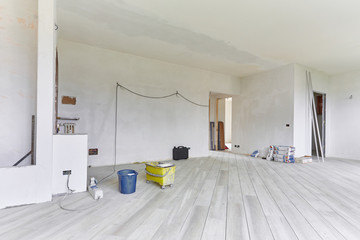 Obraz Lavori nella nuova casa - fototapety do salonu