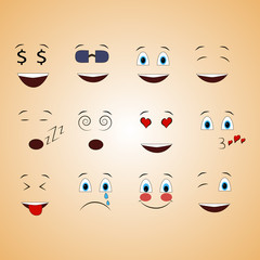 different emotions, smile