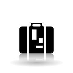 luggage icon design, vector illustration