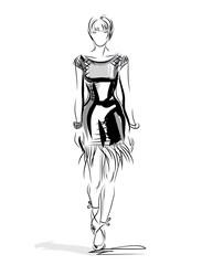 Fashion design. woman dress