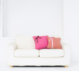 living room with sofa and pillow interior