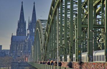 Fototapete - Hohenzollernbrücke
