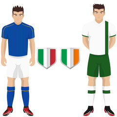 Soccer Kit of Italy and Ireland National Team for european competition