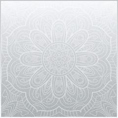Ornamental square floral pattern