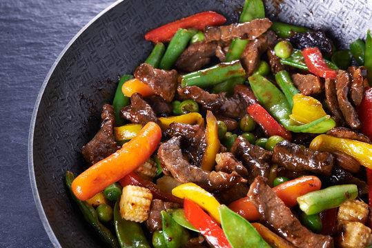 stir fried beef and vegetables