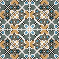 Beautiful seamless ornamental tile background vector illustration