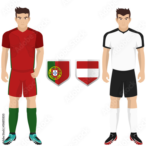 new arrival 91811 4a1f3 Soccer Kit of Austria and Hungary National Team for european ...