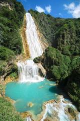 Stunning view to El Chiflon waterfall
