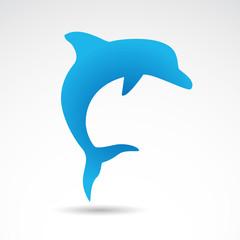 Dolphin vector icon.