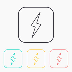 color icon set of lightning