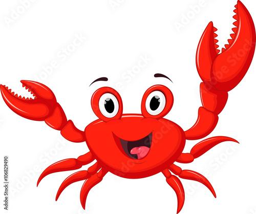 funny cartoon crab stock image and royalty free vector files on rh eu fotolia com Cartoon Fish cartoon crab pictures free