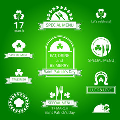 St patrick's day labels.